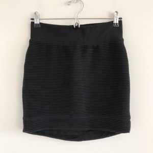 Rag & Bone Rib Knit Black Mini Skirt Size X-Small